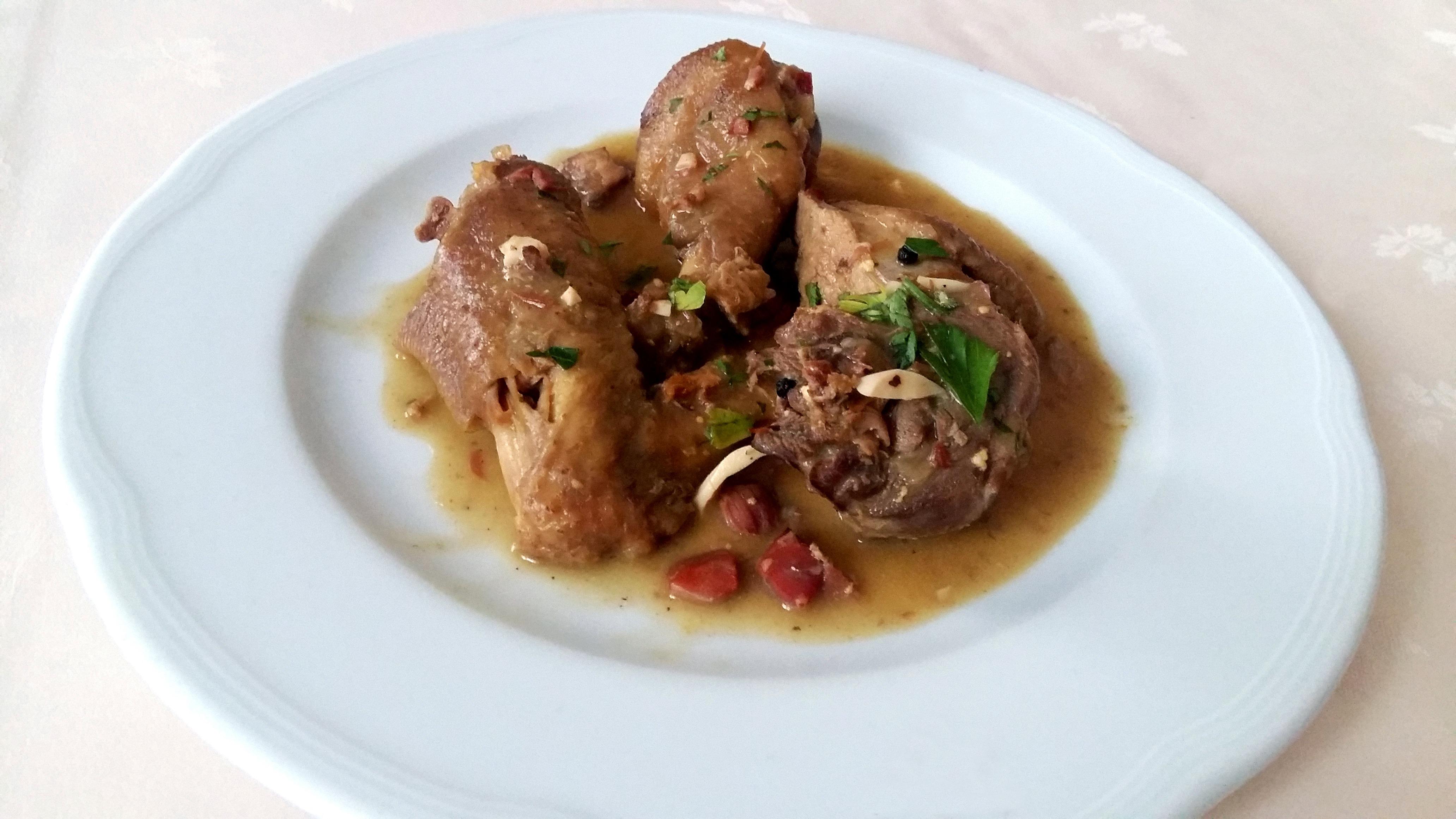 Receta pollo en pepitoria restaurante Lago de Sanabria